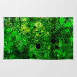 The adventure of green - 2 - psychedelic tropic Rug