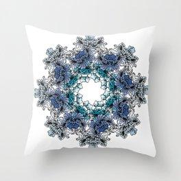 Indigo Bloom Portuguese Tiles – Braga Throw Pillow