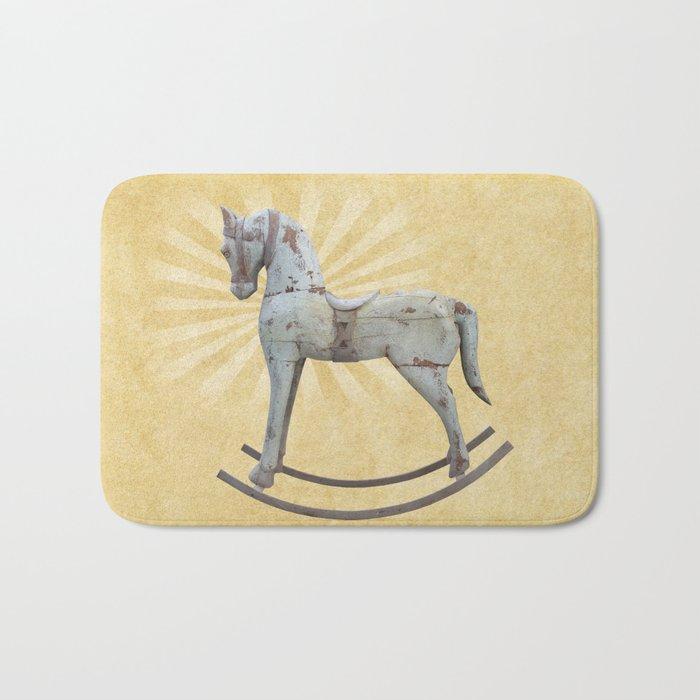 Vintage rocking horse - Toy Photography #Society6 Bath Mat
