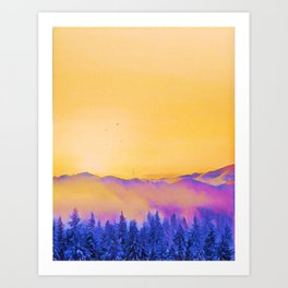 soft morning in the forest Art Print