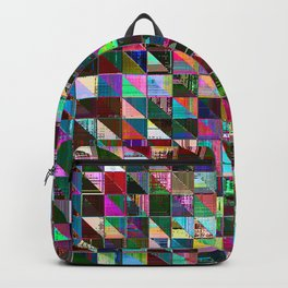 glitch color pattern Backpack