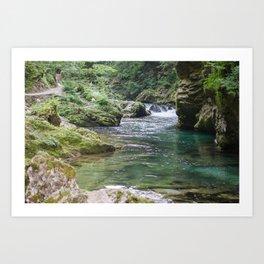 Tolmin Gorge, Slovenia Art Print