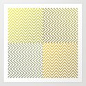 Geometric Lines Pattern Yellowish by forbiddendesigns