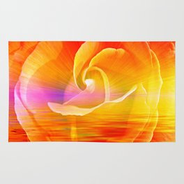 Sunset Rose Abstract Rug