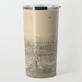 Vintage Pictorial Map of London England (1750) Travel Mug