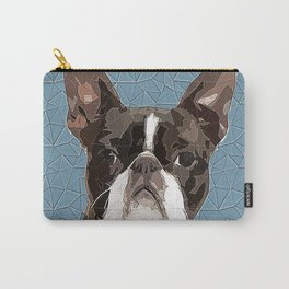 Boston Terrier Polygonal Art Carry-All Pouch