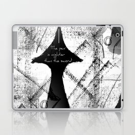 The Pen is Mightier Than The Sword Laptop & iPad Skin