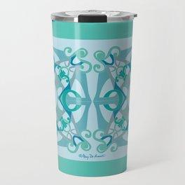 Support Love Mandala x 2 - Aqua/Blue Travel Mug
