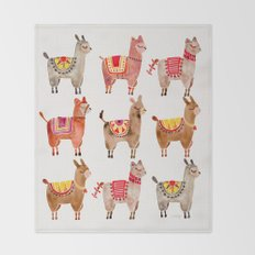 Alpacas Throw Blanket