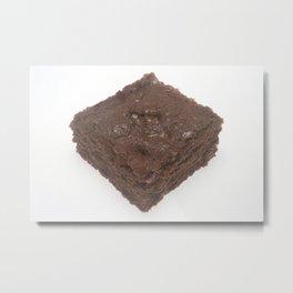 Chocolate Brownie Metal Print