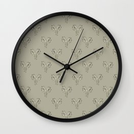 Floral Print Drawing Pattern Wall Clock
