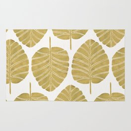 Elephant Ear Alocasia – Gold Palette Rug