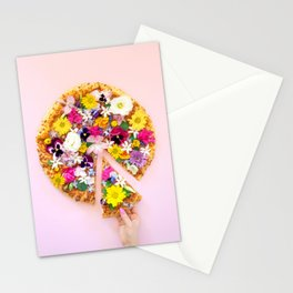 Flower Power Pizza Party Stationery Cards
