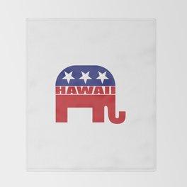 Hawaii Republican Elephant Throw Blanket