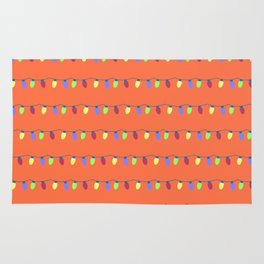 Colorful Strings of Hanging Lights Rug