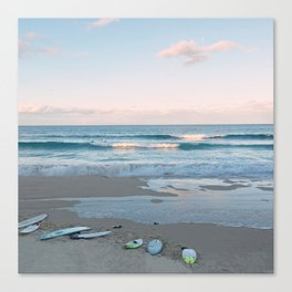 Sunset surf Canvas Print
