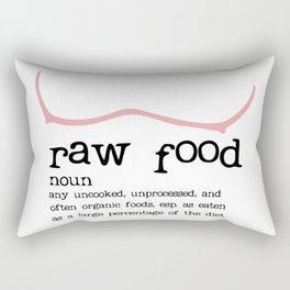 Raw Food Diet unisex Rectangular Pillow