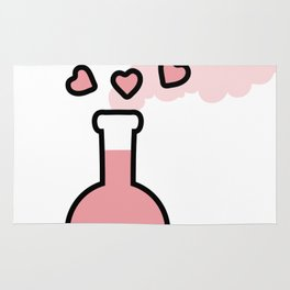 Pink Love Magic Potion in a Laboratory Flask Rug