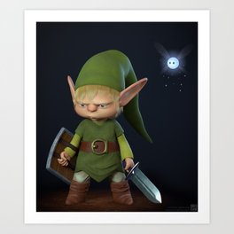 Grumpy Link Art Print