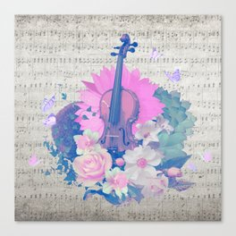 """VIOLIN by collection """"Music"""" Canvas Print"""