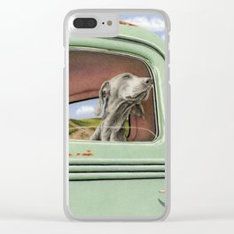 Goin' For A Ride Clear iPhone Case
