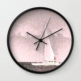 """Sailboat #8"" Art of the Sea by Murray Bolesta Wall Clock"