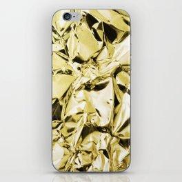 Gold foil iPhone Skin