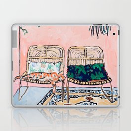 Two Chairs and a Napping Ginger Cat Laptop & iPad Skin