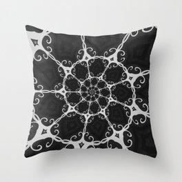 Dark Mandala #3 Throw Pillow