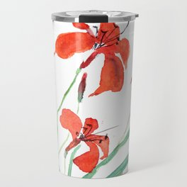 orange day lily Travel Mug