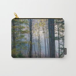 Mystic Forest - Early Morning Glow in Smoky Mountains Carry-All Pouch