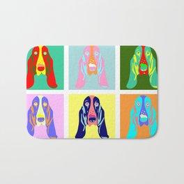 Basset Hound Dog Pop Art Bath Mat
