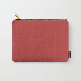 Valiant Poppy   Pantone Fashion Color   Fall : Winter 2018   New York and London   Solid Color Carry-All Pouch