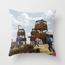 Sci-Fi Walkers Throw Pillow