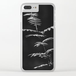 Nature Shots in Black and White. || Shadows. Forests. || Leaves. || Brunches. || Latvia. || Latvia Clear iPhone Case