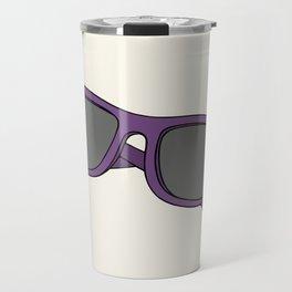 Purple sunglasses Travel Mug
