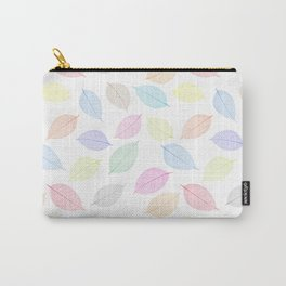 Seamless  pattern with skeleton leaves.. Endless texture Carry-All Pouch