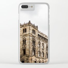 Gloomy Buildings Clear iPhone Case