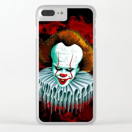 The Dancing Clown - Pennywise IT - Vector - Stephen King Character Clear iPhone Case