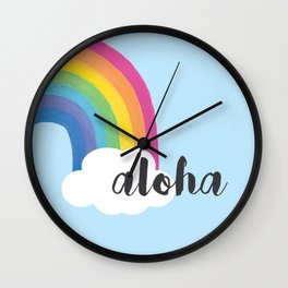Aloha in the Clouds Wall Clock