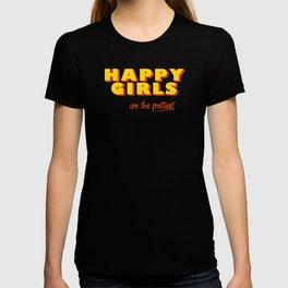 Happy Girls - typography T-shirt