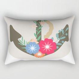 Floral anchor Rectangular Pillow