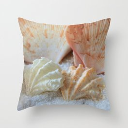 Seashells 2 Throw Pillow