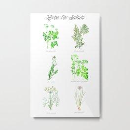 Herbs for Salads Metal Print