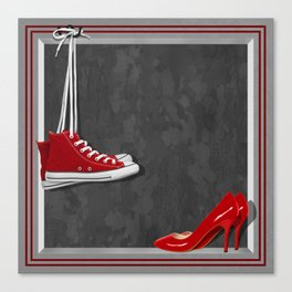 Shoes for every occasion Canvas Print