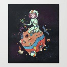 Planet nostalgia Canvas Print
