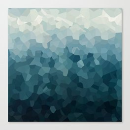 Ice Blue Mountains Moon Love Canvas Print
