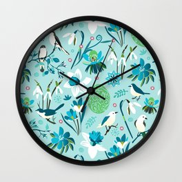 Finally Easter! [blue'n rose] Wall Clock