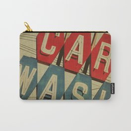 Retro Car Wash Sign Carry-All Pouch