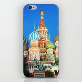 Colorful Moscow church iPhone Skin